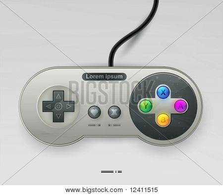 icon vector joystick with buttons. EPS10 with transparency. Arial text in curves
