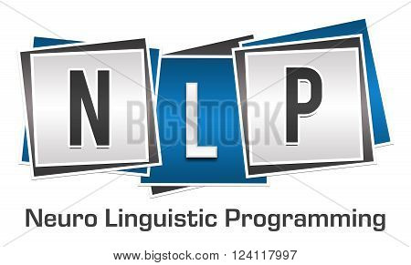 NLP and its full form written over blue grey background.