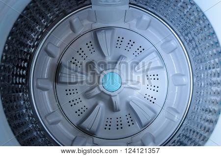 Interior view of a washing machine drum