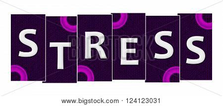 Stress text alphabets written over purple pink background.