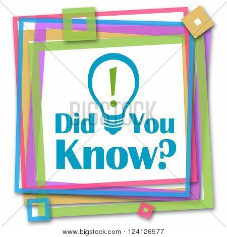 Did you kknow text written over colorful background.