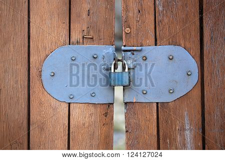Small Blue Portable Lock