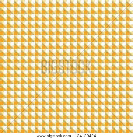 endless orange colored checkered table cloth pattern
