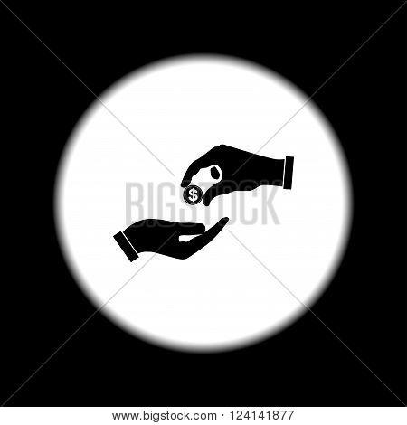 Flat icon give alms Illustration EPS 10