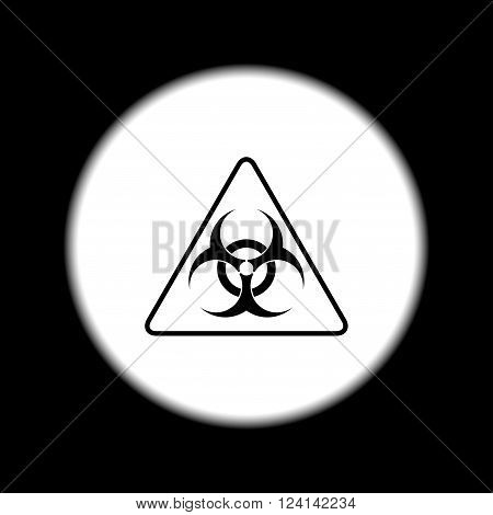 Vector biohazard sign or icon flat Illustration