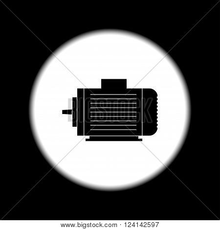 Electric motor icon Vector flat Illustration EPS