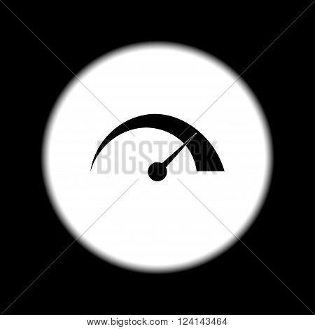 Vector speedometer icon Flat design style eps 10