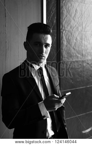 Elegant Man With Smartphone