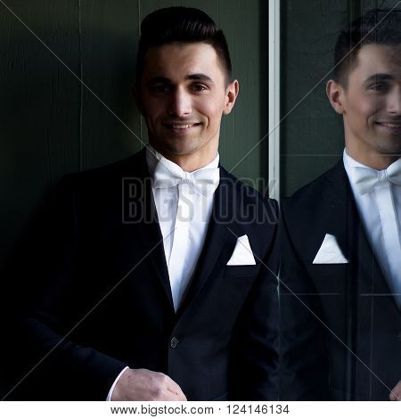 Elegant Man In Suit Smiles