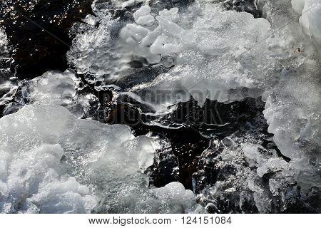 Frozen Ground With Ice