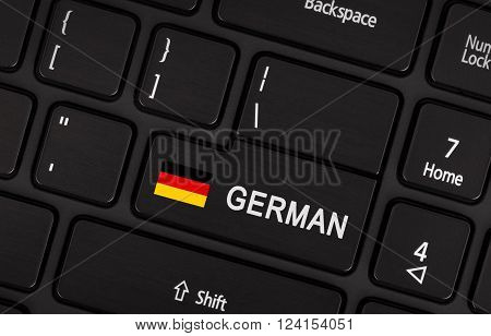 Enter Button With Flag Germany - Concept Of Language