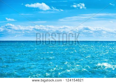 Sea Water And Blue Sky