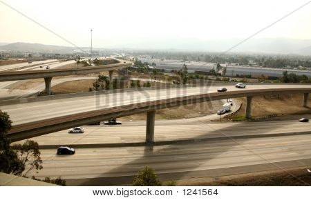 Freeway Interchange In Southern California