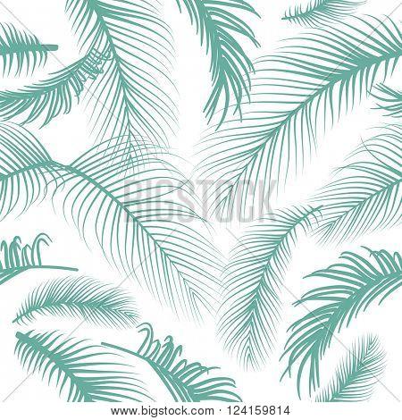 Pam leaves seamless pattern