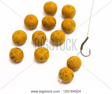 Boilies - Big Carp Fishing Bait Closeup