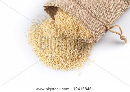 Sesame Seeds In Flax Sack