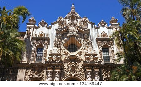 A View of Structure Casa del Prado at Balboa Park in San Diego,California,Usa.