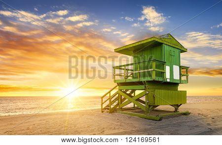 Miami South Beach at sunrise Florida USA
