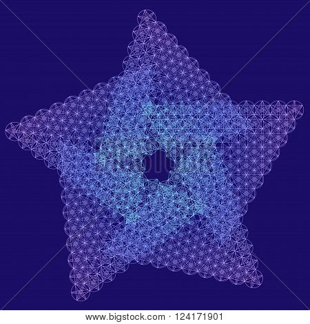 Sacred geometry star symbol. Alchemy, religion, philosophy, astrology and spirituality themes. Matter, space and time. Cosmic Space Universe. Star object. Golden Ratio.
