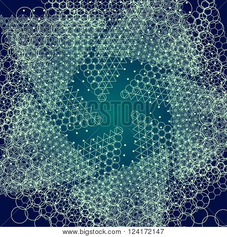 Sacred geometry mandala. Alchemy, religion, philosophy, astrology and spirituality themes. Matter, space and time. Cosmic Space Universe. Star object. Golden Ratio.
