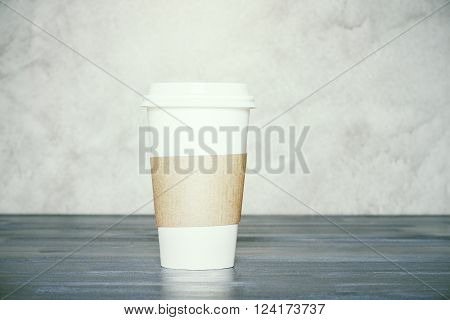 Coffee On Concrete Background