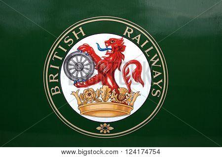 British Railways signage on side of coach (no longer in use)