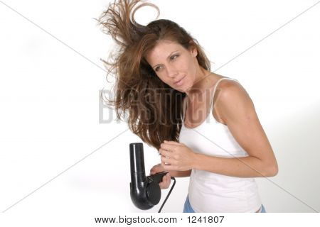 Beautiful Woman Drying Hair 3