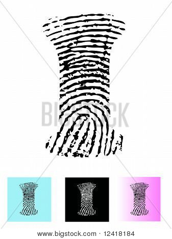 Fingerprint Alphabet Letter I.eps