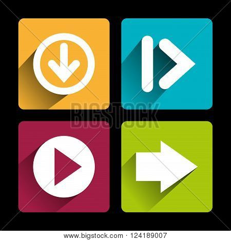 guide arrows design, vector illustration eps10 graphic