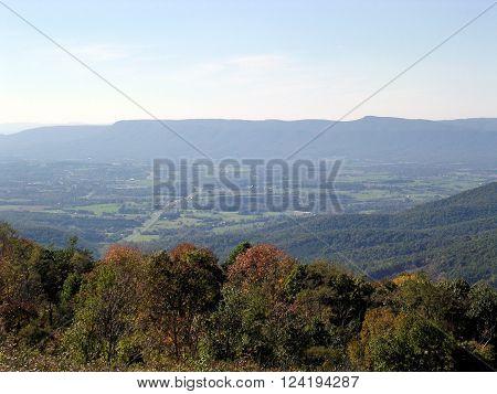 The beautiful landscape in Shenandoah National Park October 2004 USA