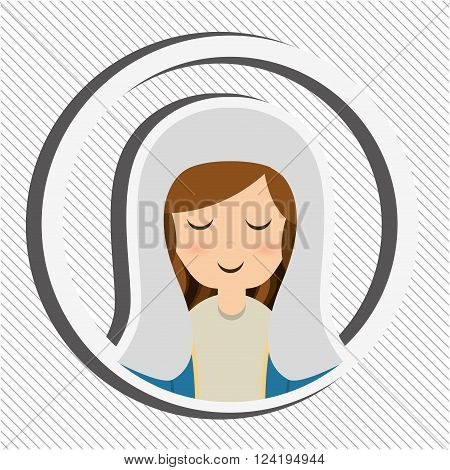 Blessed virgin design, vector illustration eps10 graphic
