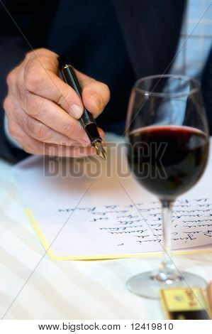 Man Writing Letter