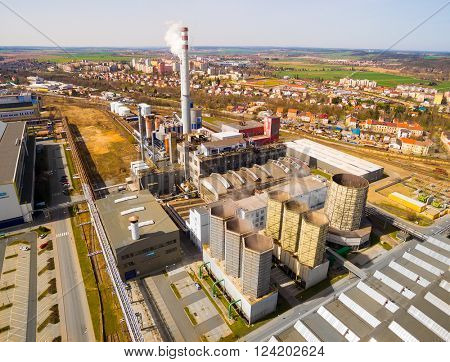 PILSEN CZECH REPUBLIC - APRIL 2, 2016: Doosan Skoda Power steel works. Doosan Group is a South Korean conglomerate company founded in 1896. It is an OEM steam turbine designer and manufacturer.