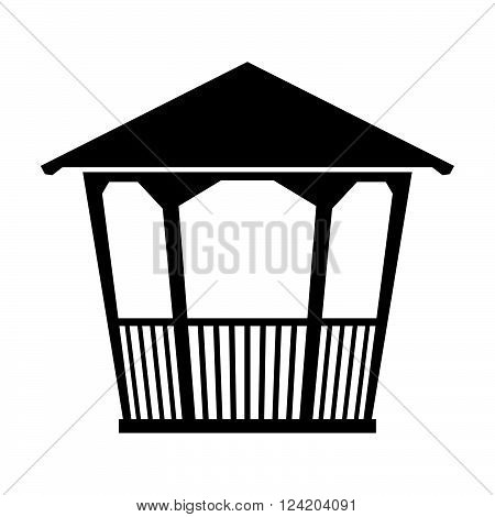 Summer house ( shade picture ) on white background