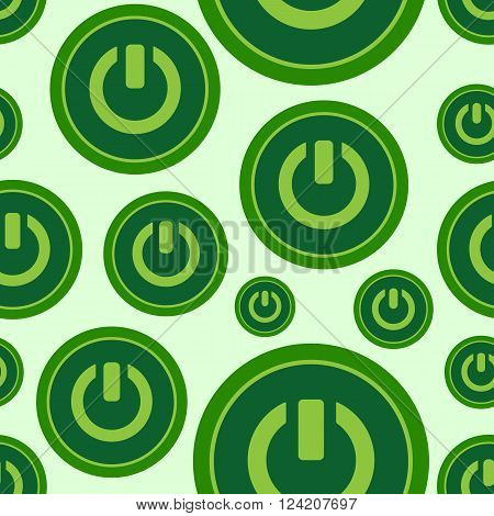 Seamless texture with green buttons of inclusion