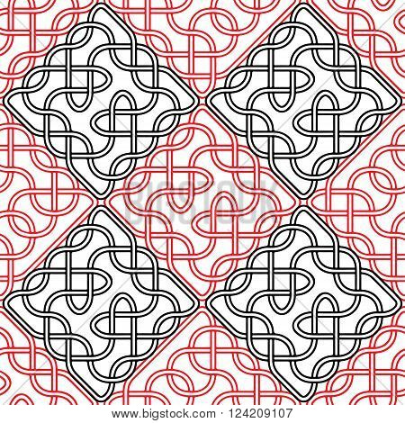 Seamless celtic or scandinavian pattern,  Vector illustration for ornate, textile, wallpaper or packaging.