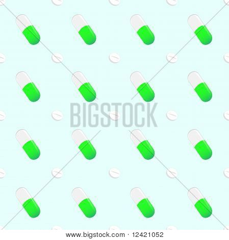 Seamless Pills Pattern