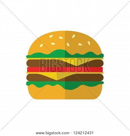 Hamburger Icon On White Background.