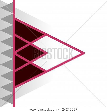 Abstract background with different levels surfaces material design colored papers. Vector brochure flayer magazine cover & poster template. Designer abstract perspective background.