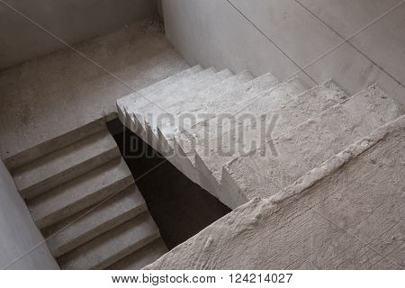 Staircase Cement Concrete Structure In Residential House Building