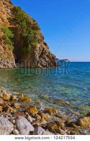 Resort Rafailovici - Montenegro - architecture and nature background