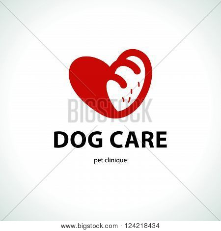 Vector flat pet logo. Dog, cat simple icon. Pet shop logo, animal goods store, pet food logo brand design. Pet center insignia. Kid shop logo.