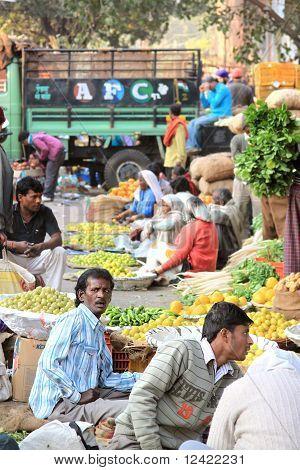 Vegetable Produce Market Scene India