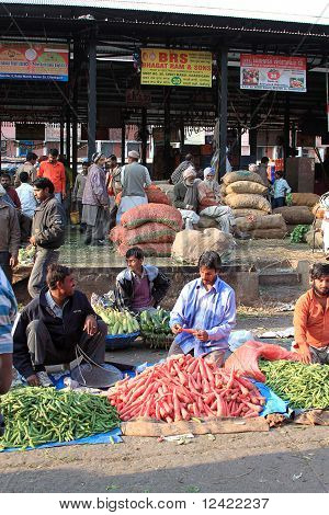 Vegetable Produce Market Scene India