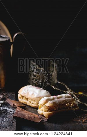 Eclairs With White Chocolate