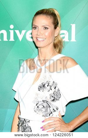 LOS ANGELES - APR 1:  Heidi Klum at the NBC Universal Summer Press Day 2016 at the Four Seasons Hotel on April 1, 2016 in Westlake Village, CA