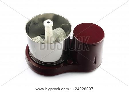 Electric  Wet Grinder With Stone Isolated on White Background
