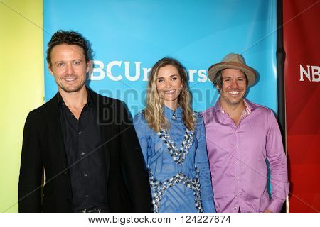 LOS ANGELES - APR 1:  David Lyons, Bre Blair, Michael Raymond James at the NBC Universal Summer Press Day 2016 at the Four Seasons Hotel on April 1, 2016 in Westlake Village, CA