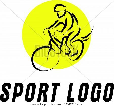 Hand drawn sportsman silhouette sketch. Human athlete figure isolated. Good for any sport competition advertising design, poster, placard, leaflet template. Sport magazine article illustration, print design.