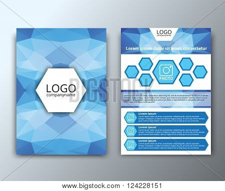Template Flyer With Polygonal Background